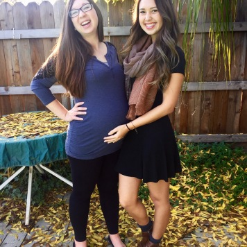 Thankful for my sister and I can't wait to meet this little one