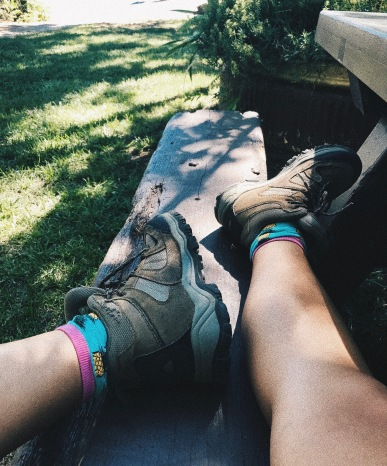 Pineapple Socks & Hiking Books