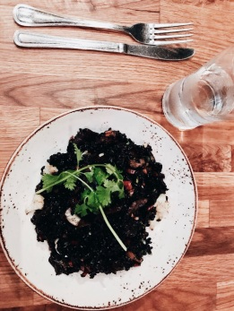Black rice with veggies