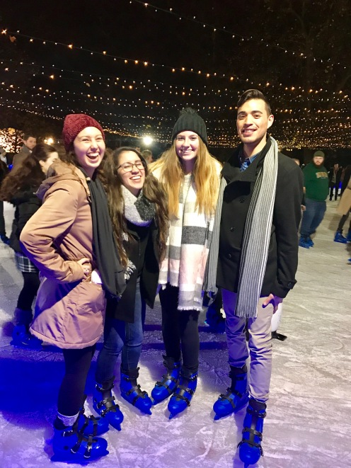 Ice Skating in Winter Wonderland